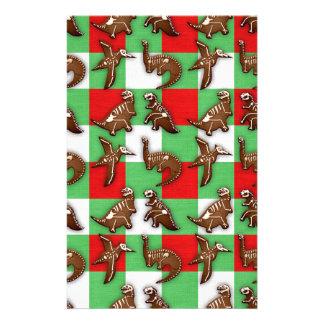 Gingerbread Dinos Stationery
