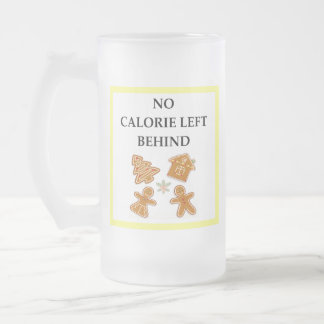gingerbread frosted glass beer mug