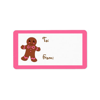 Gingerbread Gift Tag Label