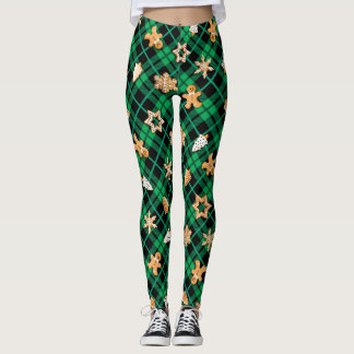 Gingerbread Green Leggings
