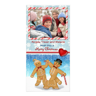 Gingerbread Greetings 2 Customized Photo Card