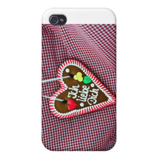 Gingerbread Heart Covers For iPhone 4
