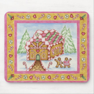 Gingerbread Heart House Mousepad