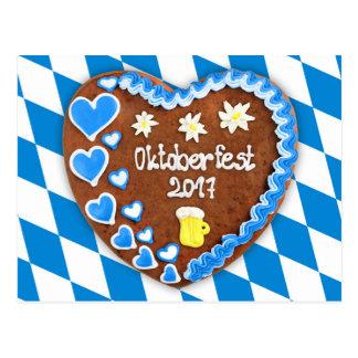 Gingerbread heart Octoberfest 2017 Postcard