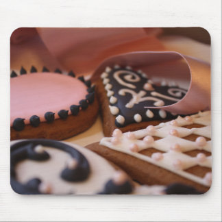 Gingerbread Hearts Mouse Pad