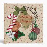 Gingerbread holiday baking recipe book binder