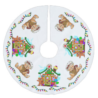 """GINGERBREAD HOLIDAY"" BRUSHED POLYESTER TREE SKIRT"