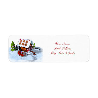Gingerbread House Address Labels