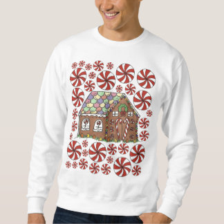 Gingerbread House Candy Ugly Christmas Sweater