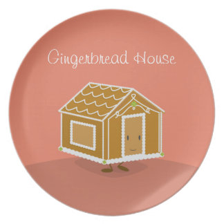Gingerbread House character   Melamine Plate