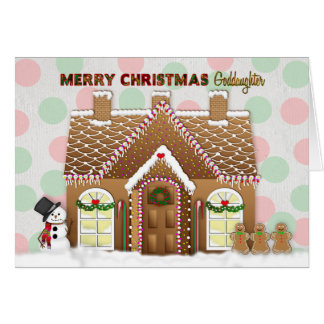 Gingerbread House Christmas - Goddaughter Card