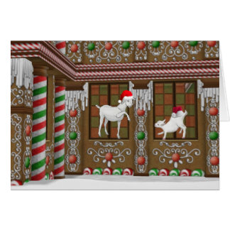 Gingerbread House Christmas Greeting Card