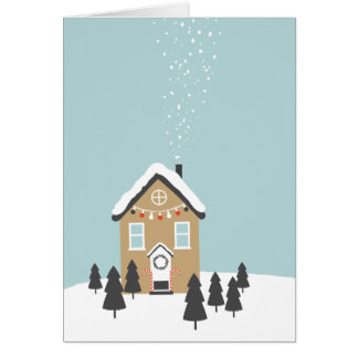 """Gingerbread House"" Christmas Greeting Card"