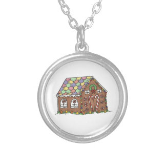 Gingerbread House Christmas Holiday Necklace
