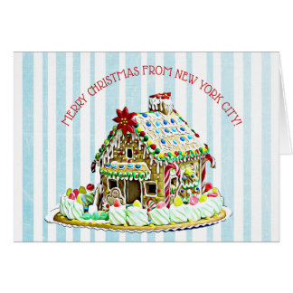 Gingerbread House, Christmas in New York City Card