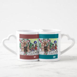 gingerbread house coffee mug set