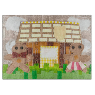 Gingerbread House Couple Chopping Board