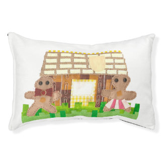 Gingerbread House Couple Dog Bed