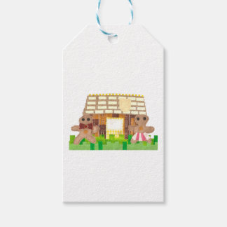 Gingerbread House Couple Gift Tags