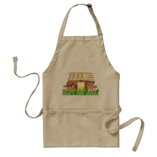 Gingerbread House Couple No Background Apron