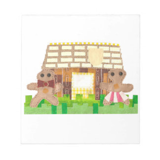 Gingerbread House Couple Notepad