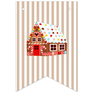Gingerbread House Decorating Birthday Banner