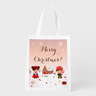 Gingerbread House Decorating Party favor bag Market Tote