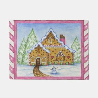 Gingerbread House Doormat