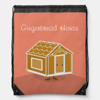 Gingerbread House | Drawstring Backpack