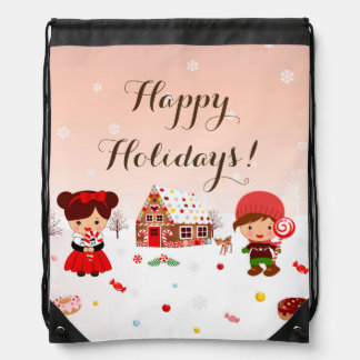 Gingerbread House Drawstring bag