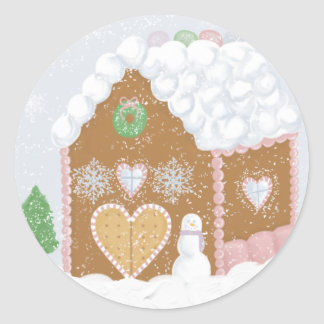 Gingerbread House Envelope Seals
