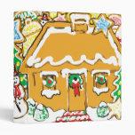 Gingerbread House Frosted Cookies Christmas Scene Vinyl Binders