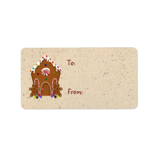 Gingerbread House Gift Label