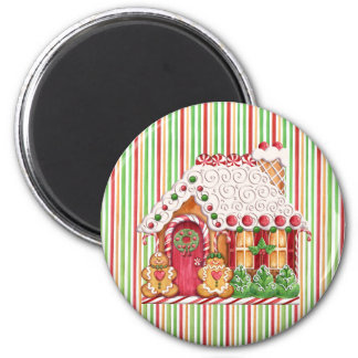 Gingerbread House & Gumdrops Magnet