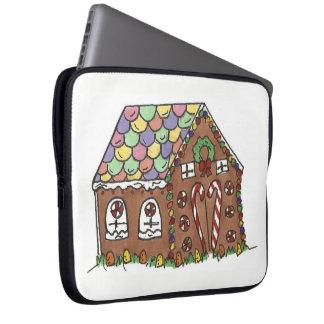 Gingerbread House Home Sweet Home Christmas Xmas Laptop Sleeve