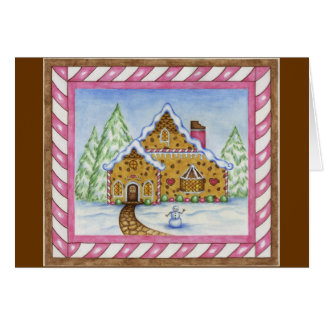 Gingerbread House Lodge Card