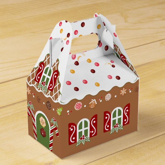 Gingerbread House Party Favor Box