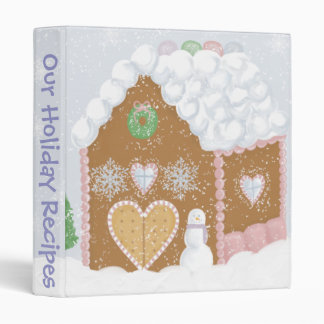 Gingerbread House Recipe Binder