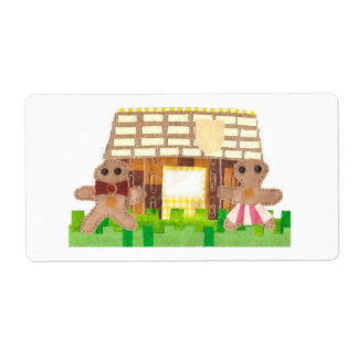Gingerbread House Shipping Labels