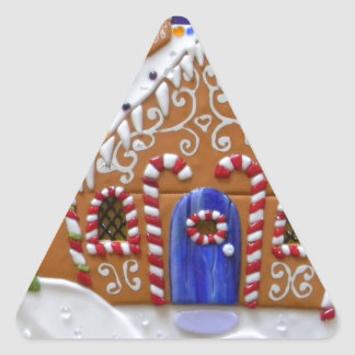 Gingerbread House Triangle Sticker
