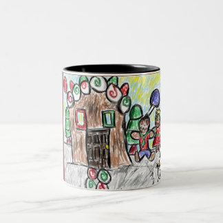 gingerbread house Two-Tone coffee mug