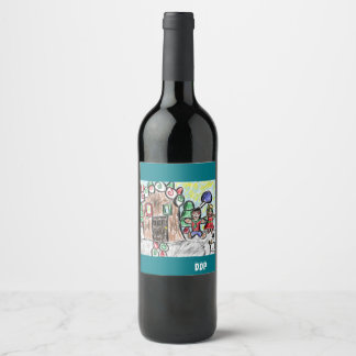 gingerbread house wine label