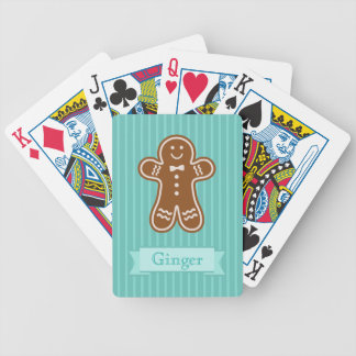 Gingerbread Hugs Bicycle Playing Cards