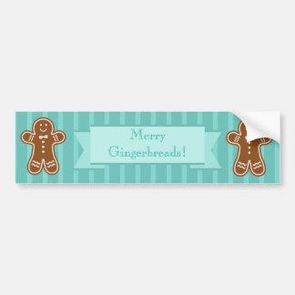 Gingerbread Hugs Bumper Sticker