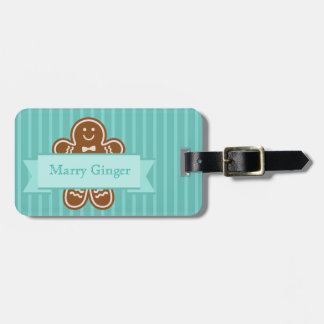 Gingerbread Hugs Luggage Tag