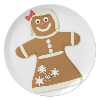 Gingerbread Lady Party Plate