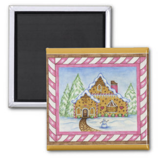 Gingerbread Lodge House Magnet