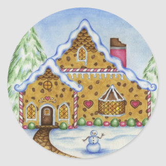 Gingerbread Lodge Sticker