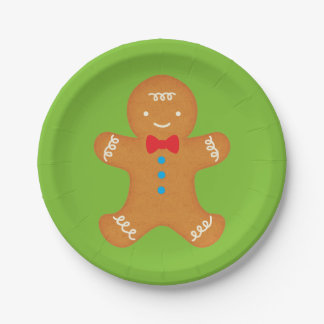 Gingerbread Man 7 Inch Paper Plate