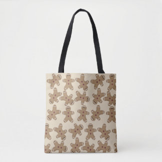 Gingerbread Man All Over Print Tote Bag